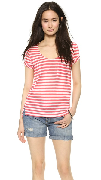 Splendid Glen Valley Stripe Pocket Tee