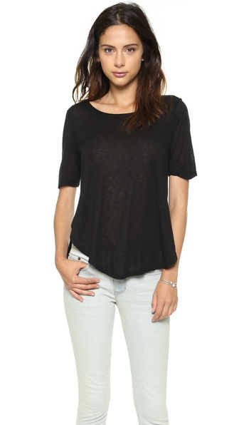 Splendid Shirttail Hem Slub Tee