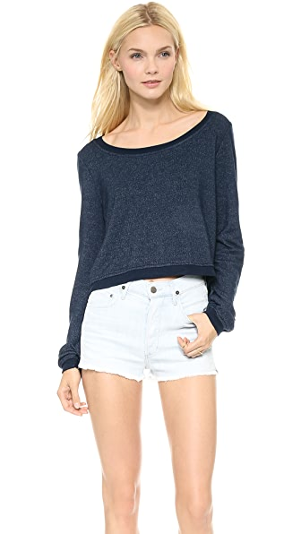 Splendid Super Soft Cropped Sweatshirt