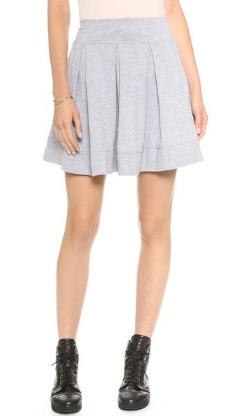 Splendid Pleated Mini Skirt
