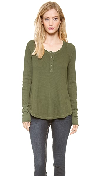 Splendid Loose Thermal Henley