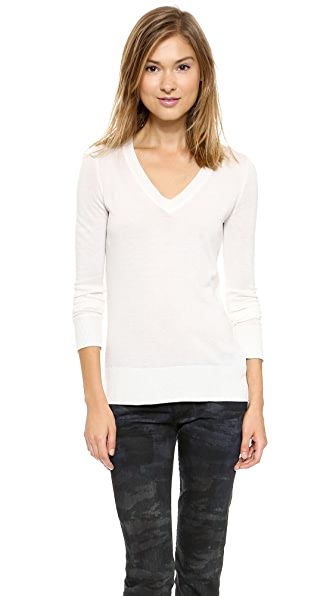 Splendid Fine V Neck Sweater