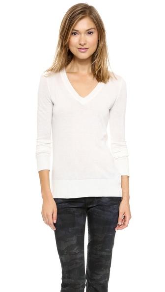 Splendid Fine V Neck Sweater