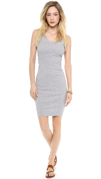 Shop Splendid online and buy Splendid 2X1 Racer Back Dress Heather Grey - A simple Splendid dress in ribbed jersey. Scoop neckline. Center back seam. Unlined. Fabric: Ribbed jersey. 100% supima cotton. Wash cold. Made in the USA. Measurements Length: 37in / 94cm, from shoulder Measurements from size S. Available sizes: L,M,S,XS