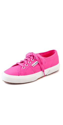 Shop Superga online and buy Superga Cotu Classic Sneakers - These canvas sneakers feature a logo tag at the lace-up closure. Rubber sidewall and crepe sole.  Imported.  This item cannot be gift-boxed. - Fuxia (Fuchsia)
