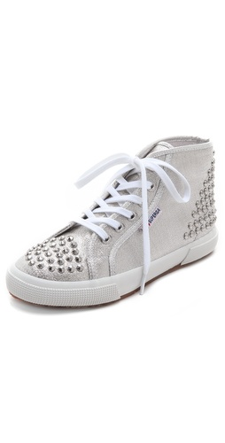 Superga High Top Studded Sneakers at Shopbop / East Dane