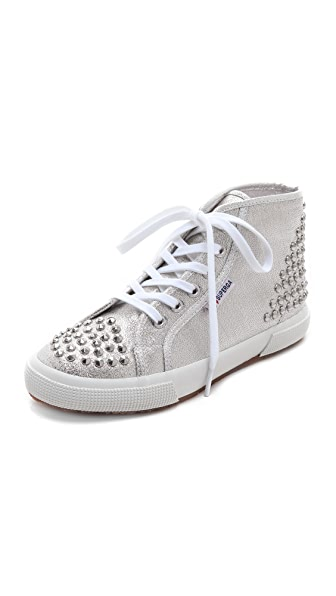 Superga High Top Studded Sneakers