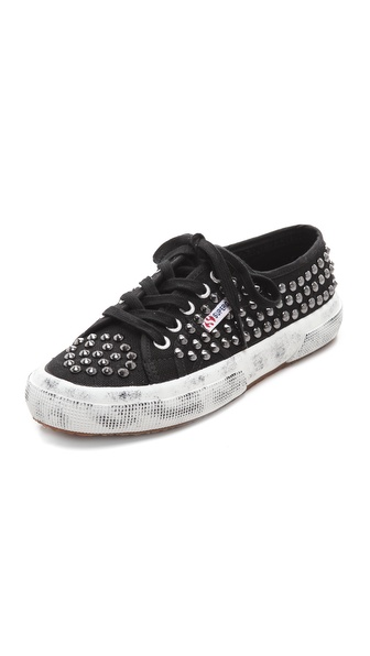 Superga Studded Canvas Sneakers