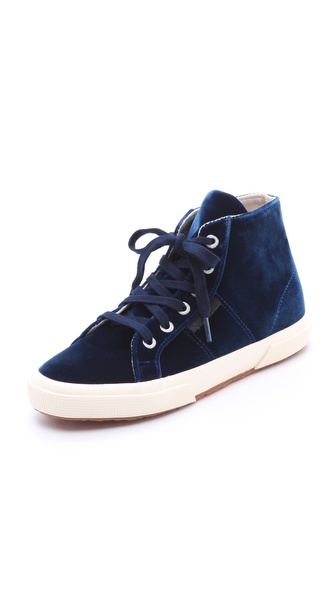 Superga The Man Repeller X Superga Velvet High Top Sneaker