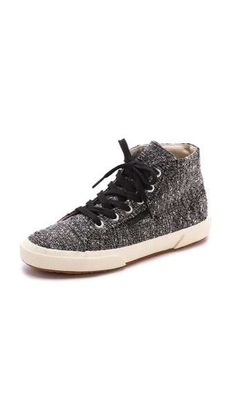 Superga The Man Repeller X Superga Tweed High Top Sneakers