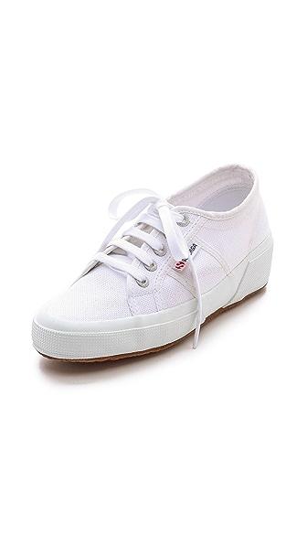 Superga Linen Demi Wedge Sneakers