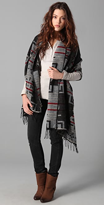 Spun Scarves by Subtle Luxury Arizona Poncho Scarf