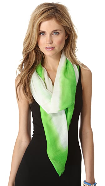 Spun Scarves by Subtle Luxury Neon Border Scarf