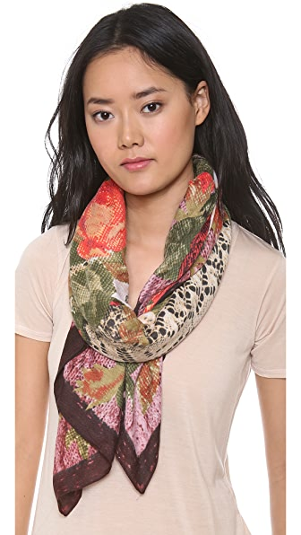 Spun Scarves by Subtle Luxury Floral Lace Scarf