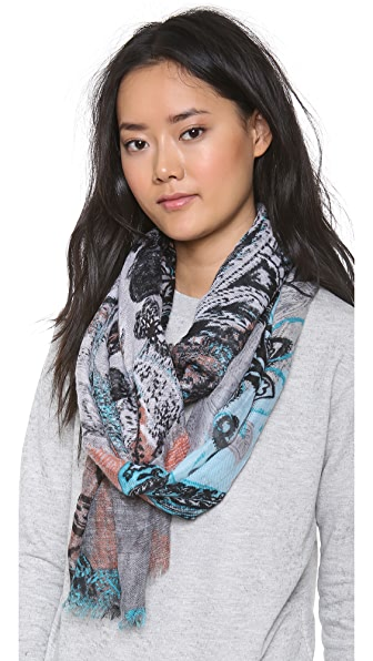 Spun Scarves by Subtle Luxury Pixelated Bouquet Scarf