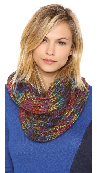 Spun Scarves by Subtle Luxury Chunky Rainbow Scarf