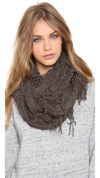 Spun Scarves by Subtle Luxury Fringe Vest Scarf
