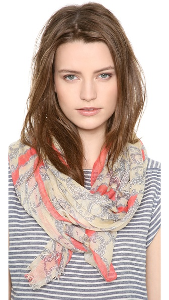 Spun Scarves by Subtle Luxury Crossed Paisley Scarf