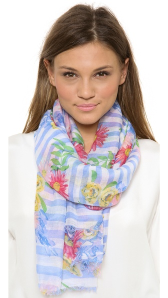 Spun Scarves By Subtle Luxury Spring Picnic Scarf - Blue