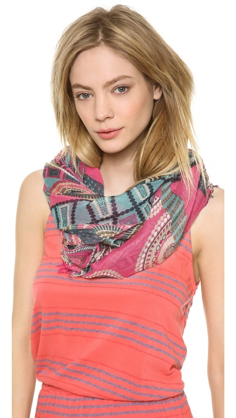 Spun Scarves by Subtle Luxury Abstract Patchwork Scarf