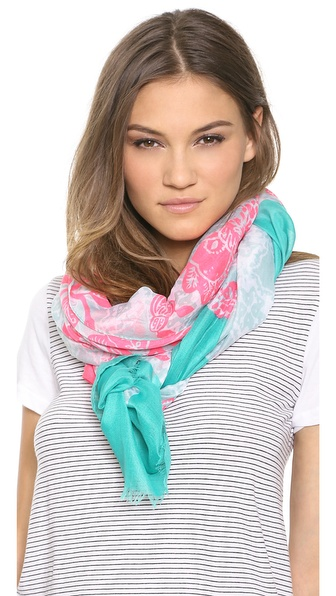 Spun Scarves by Subtle Luxury Tropical Lace Scarf