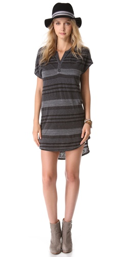Stateside Boy Stripe Henley Dress