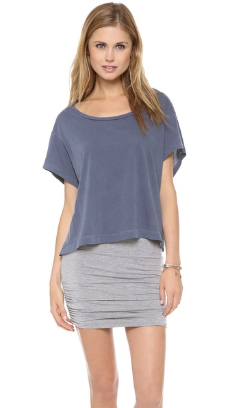 Stateside Royal Boxy Cropped Tee