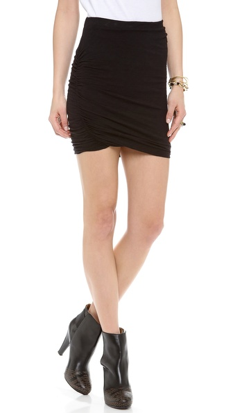 Stateside Twisted Slub Miniskirt