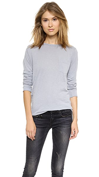 Stateside Pleat Shoulder Slub Pocket Tee