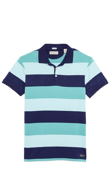 Scotch & Soda Striped Polo
