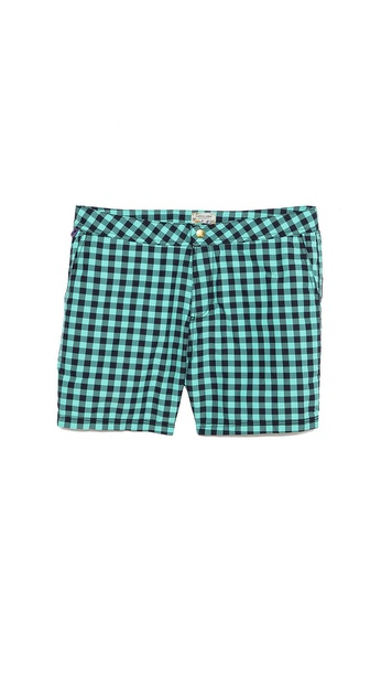 Scotch & Soda Check Swim Trunks