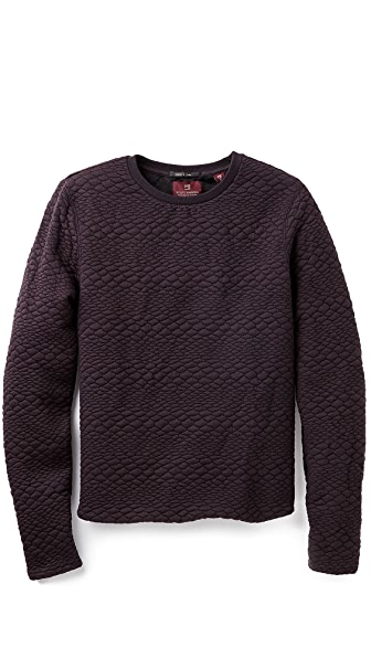 Scotch & Soda Long Sleeve Quilted T-Shirt