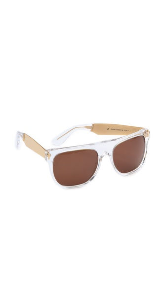 Super Sunglasses Crystal Francis Flat Top Sunglasses