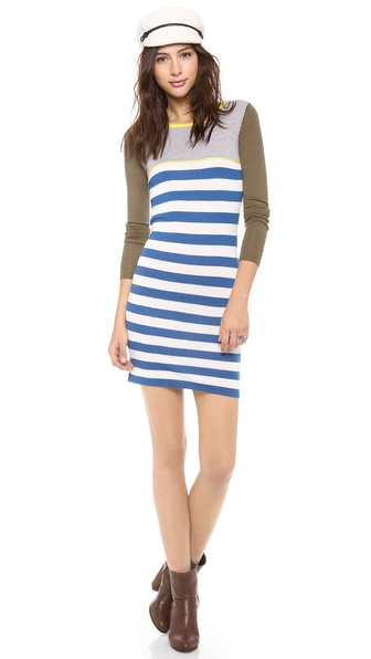 STATEof_ Striped Colorblock Dress