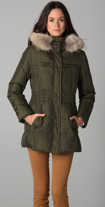 state & lake Major Jacket with Fur Trim