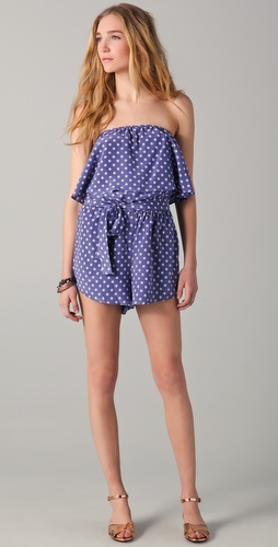 state & lake Polka Dot Romper