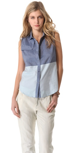 state & lake Sleeveless Chambray Shirt at Shopbop / East Dane