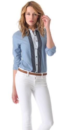 state & lake Colorblock Chambray Shirt