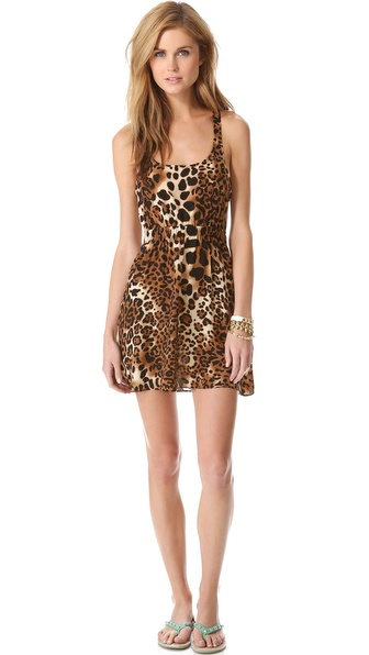state & lake Open Back Mini Dress