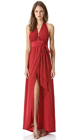 state & lake Halter Maxi Dress