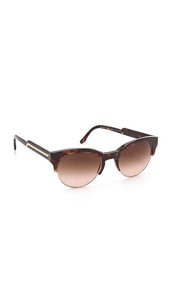 Stella McCartney Oversized Round Sunglasses with Rimless Bottom