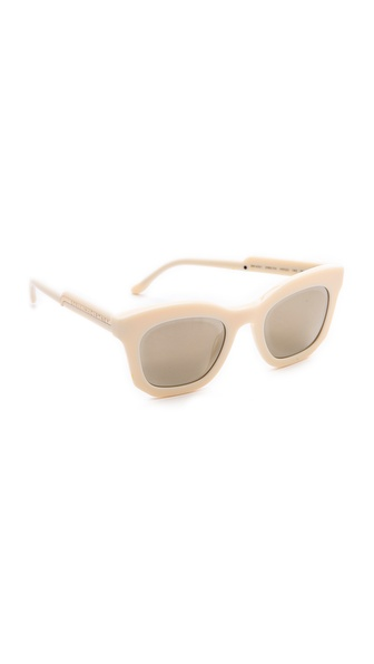 Stella McCartney Mirorred Thick Frame Sunglasses