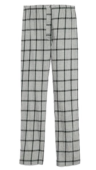 Steven Alan Brushed Check Pajama Pants