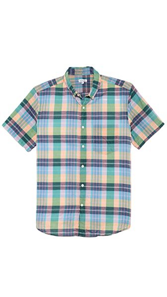Steven Alan Plaid Single Needle Shirt
