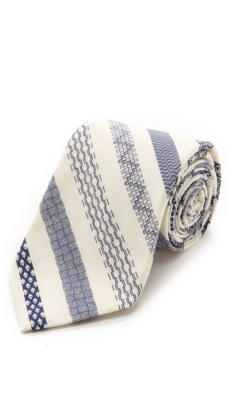 Steven Alan Patterned Stripe Skinny Tie