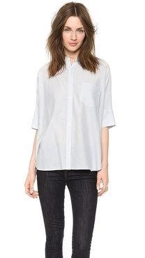 Steven Alan Oversized Stand Collar Shirt