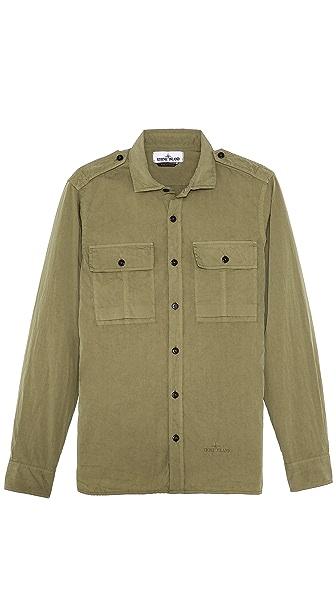 Stone Island Poplin Military Shirt