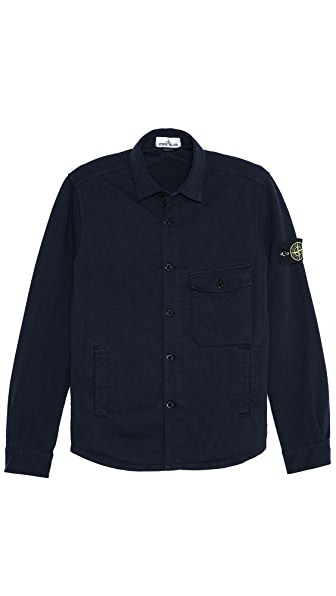 Stone Island Heavy Cotton Shirt Jacket