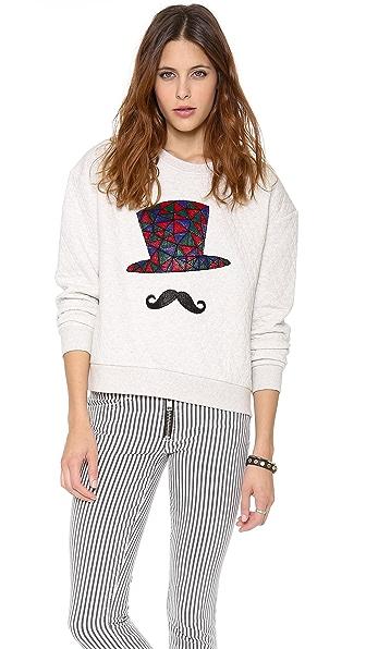 Stripe by N Hat Quilt Sweatshirt