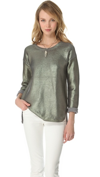 STYLESTALKER Psychedelic Foil Sweater